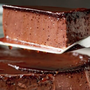 Chocolate Almond Flan