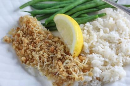 Low FODMAP Parmesan crusted flounder Parmesan and Panko Crusted Flounder