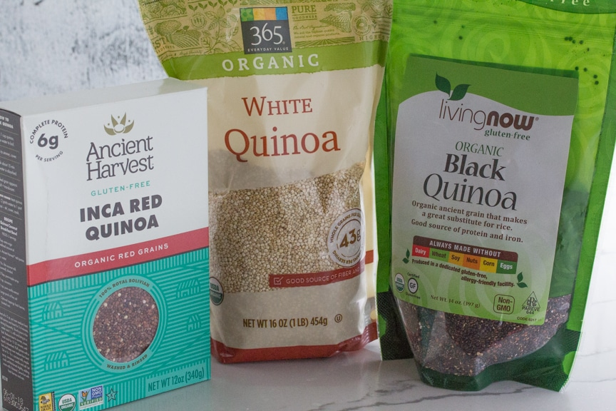 There are many choices for red, white or black quinoa in the market.