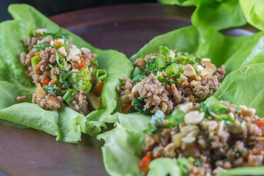 Monash University Certified Asian Pork Lettuce Wraps - Low FODMAP