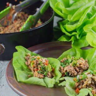 Low FODMAP Asian Pork Lettuce Wraps - Low FODMAP