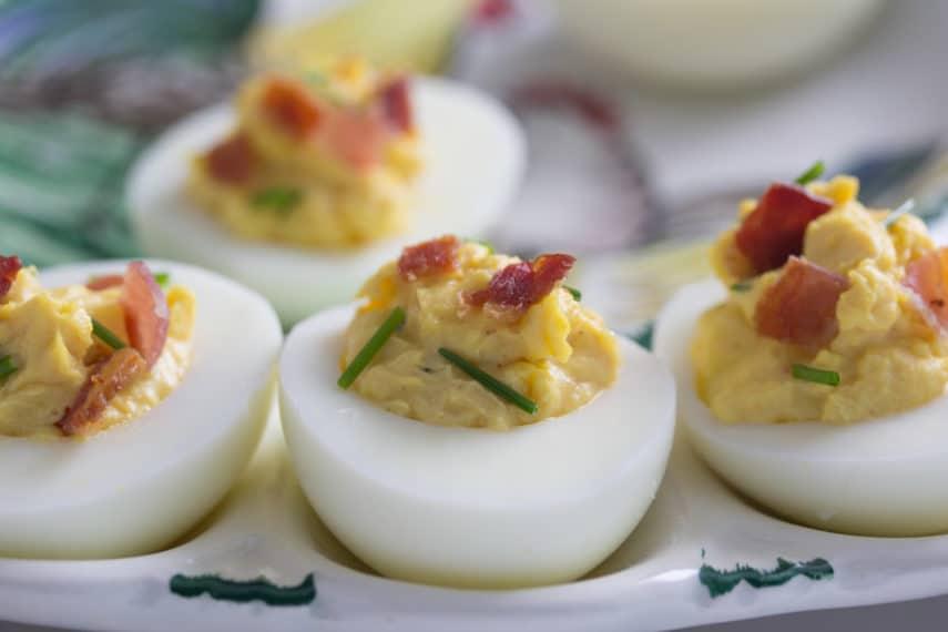 Low FODMAP Bacon Deviled Eggs