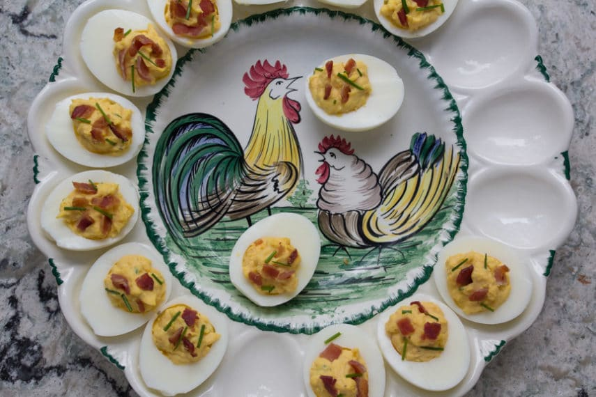 Low FODMAP Bacon Deviled Eggs - no one passes these by.