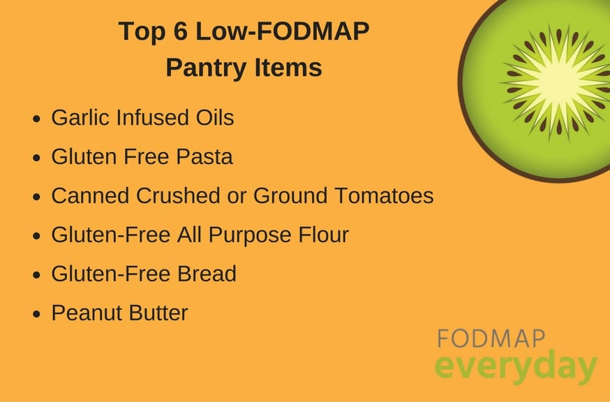 Top 6 Low FODMAP Pantry Items