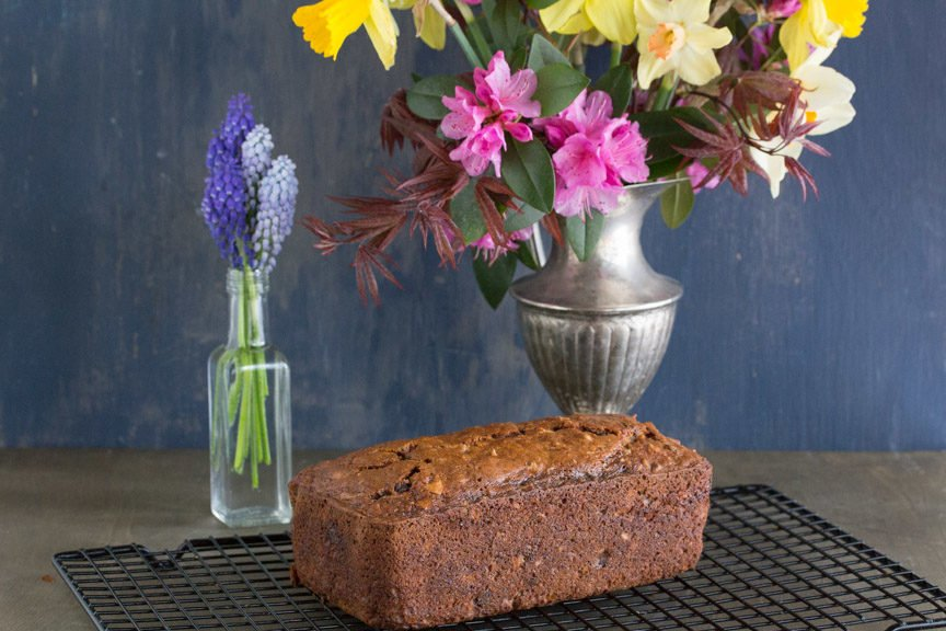 Poppy Seed Carrot Banana Bread whole loaf cooling