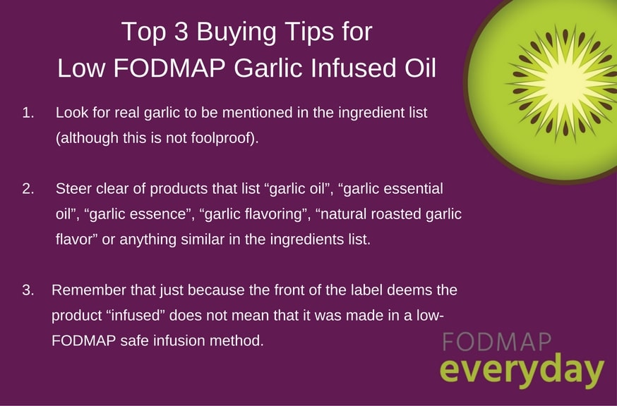 Top 3 Buying Tips For Low FODMAP Garlic Infused Oil