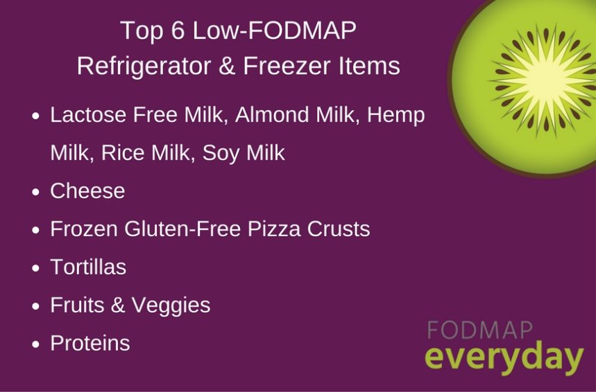 Top 6 Low FODMAP Refrigerator & Freezer Items