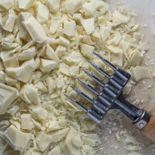 chocolate chopper chopping white chocolate