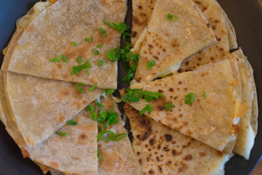 two kinds of flour tortillas for Easy Cheesy Quesadillas