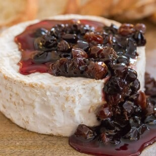 """Rayzyns are plump """"raisins"""" made from wine grapes such as the Chardonnay, Cabernet Sauvignon & Merlot grapes. Featured here instead of raisins in a compote."""