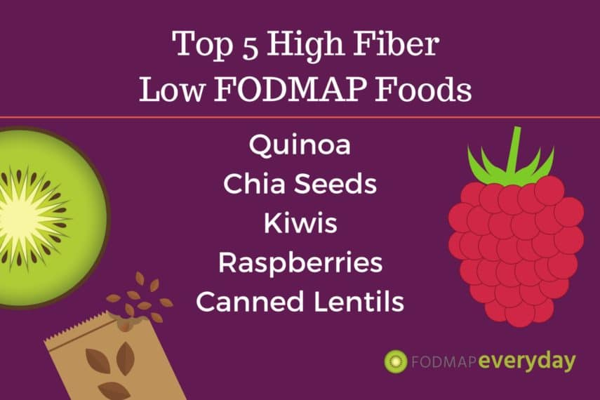 Top 5 High Fiber Low FODMAP foods