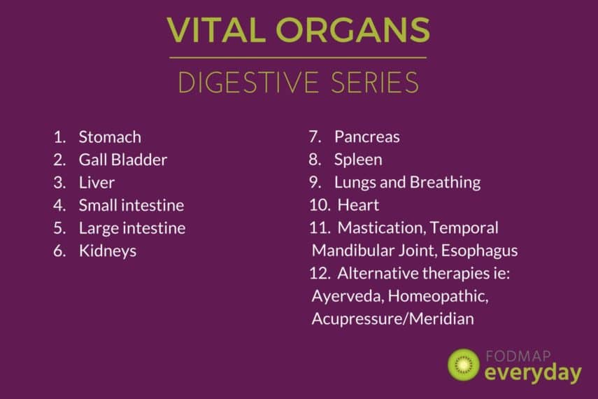 Digestion Series empowering you with information and understanding of the functions of the vital organs in digestion, includes simple self care techniques.