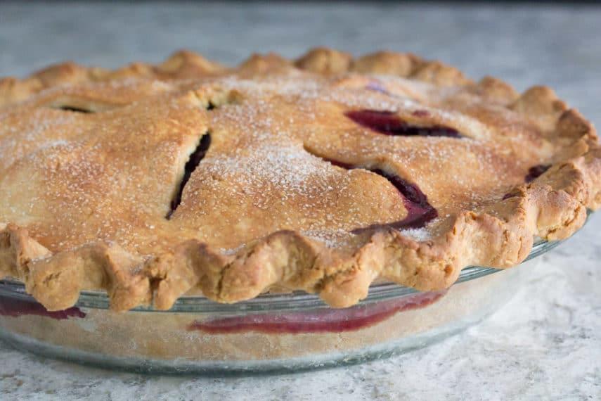 Low FODMAP blueberry pie crust