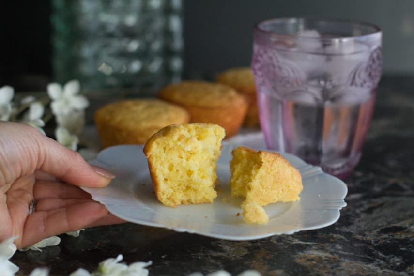 Low FODMAP corn muffin served to you!