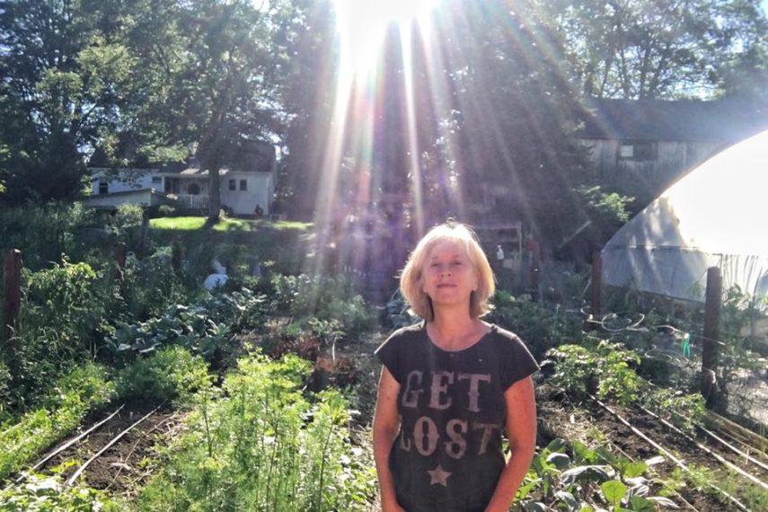 Me in my happy place... the garden is where I go to feed my soul and body.