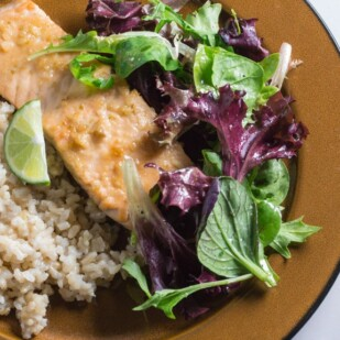 low FODMAP miso glazed salmon