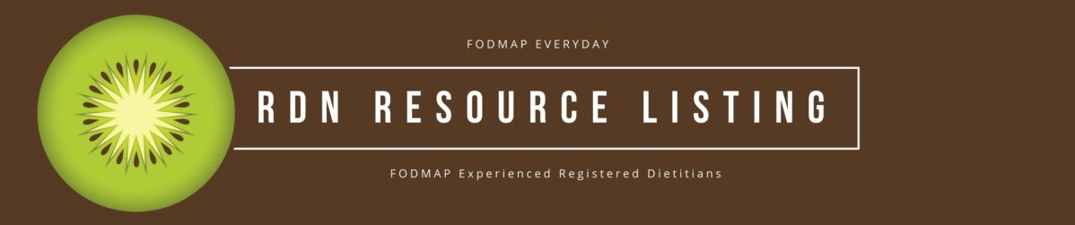 FODMAP Everyday RDN Resource Listing - find a Low FODMAP experienced dietitian here!