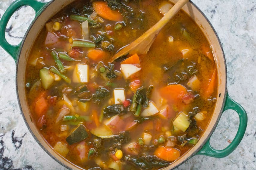 Summer Garden Vegetable Soup Certified Low Fodmap By Monash University Fodmap Everyday