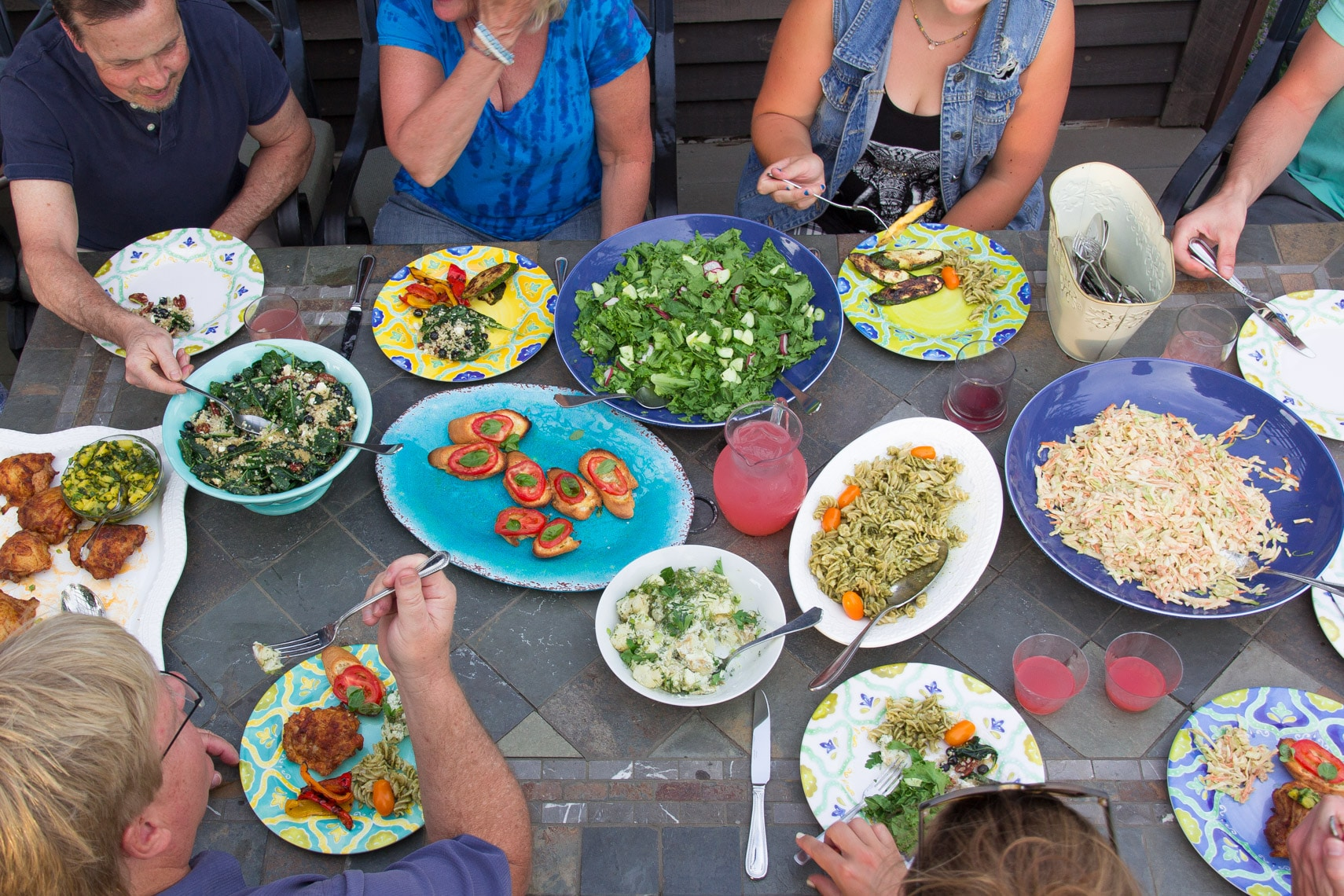 Fourth of July - a table full of Low FODMAP deliciousness.