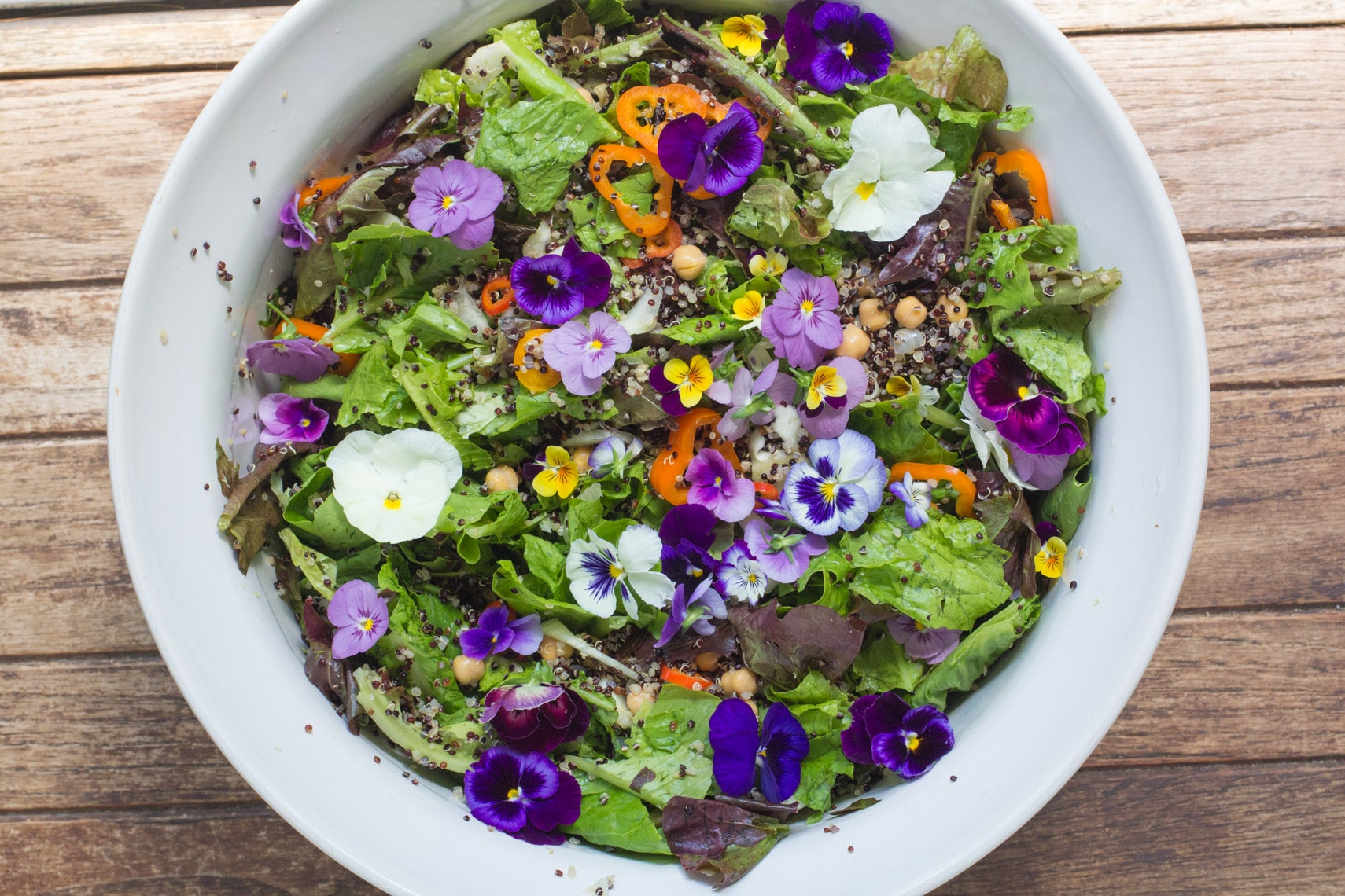 Greens and Grains Salad makes a vibrant bowl of yumminess.