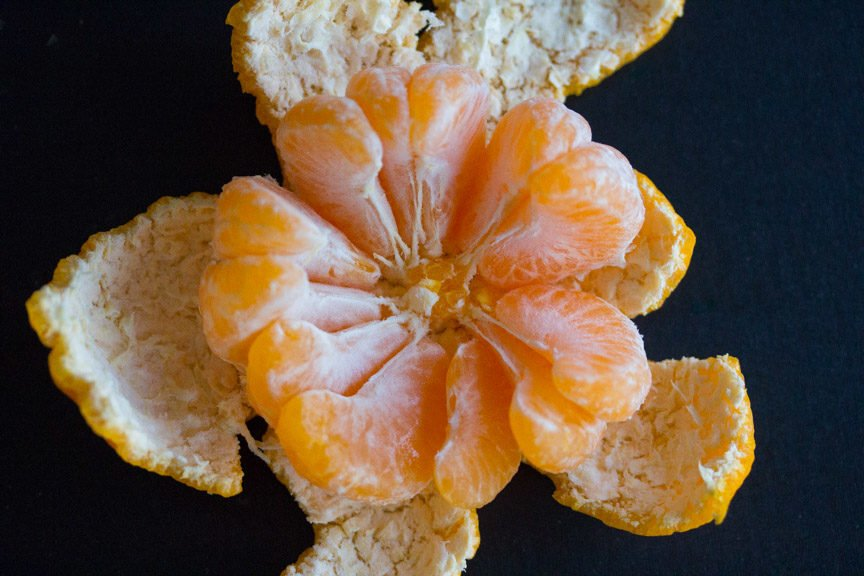 Mandarins inside