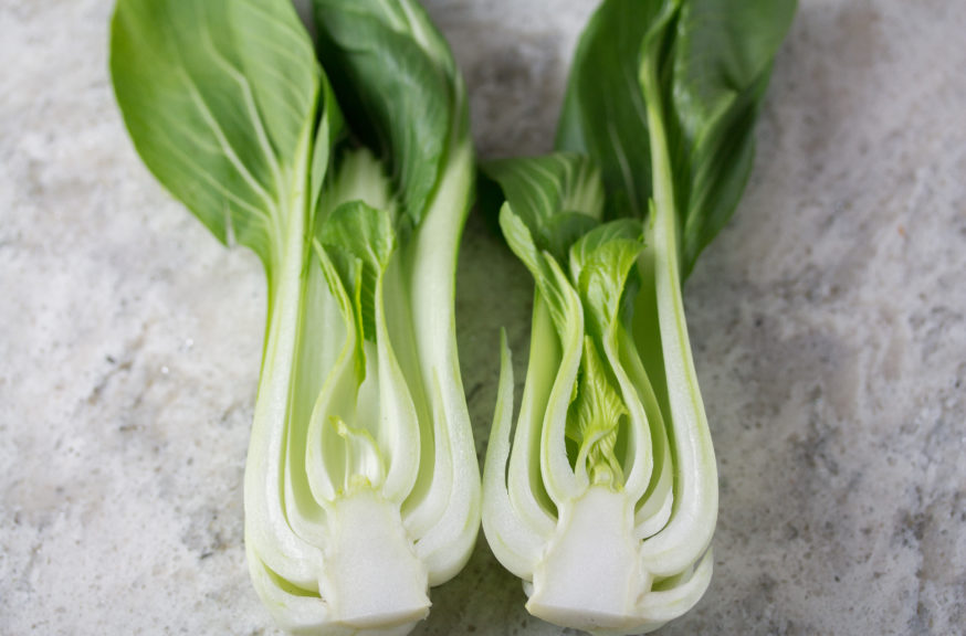 bok choy cut open