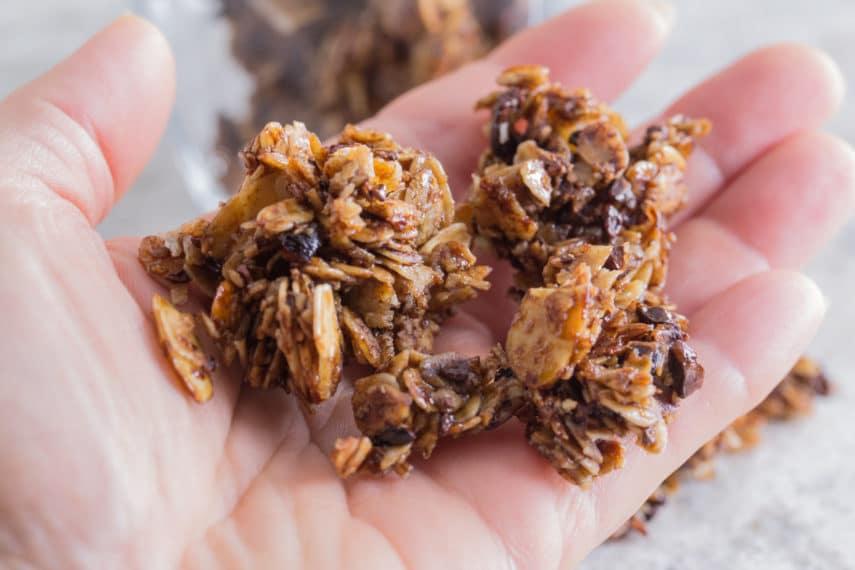 chunks of chocolate granola