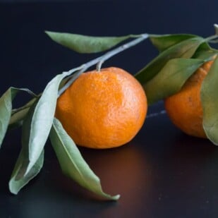 mandarin on stalk