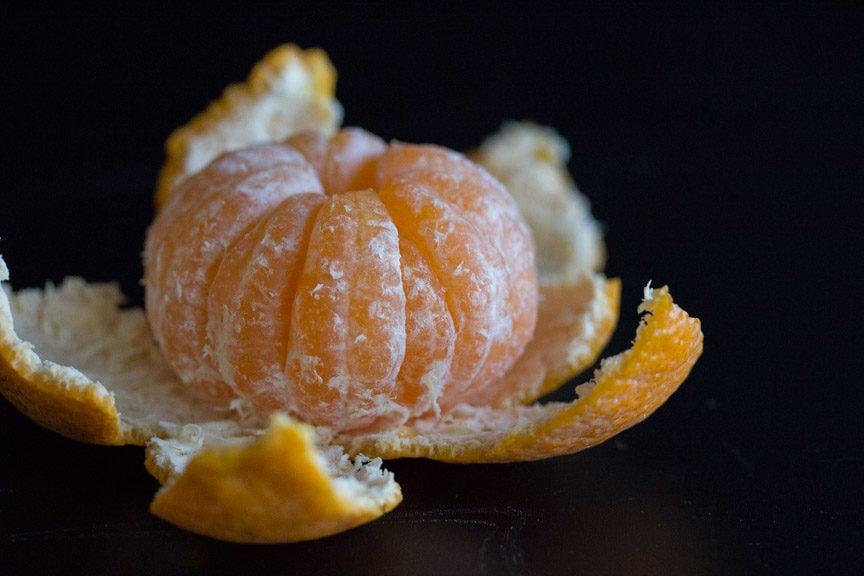 mandarins unpeeled