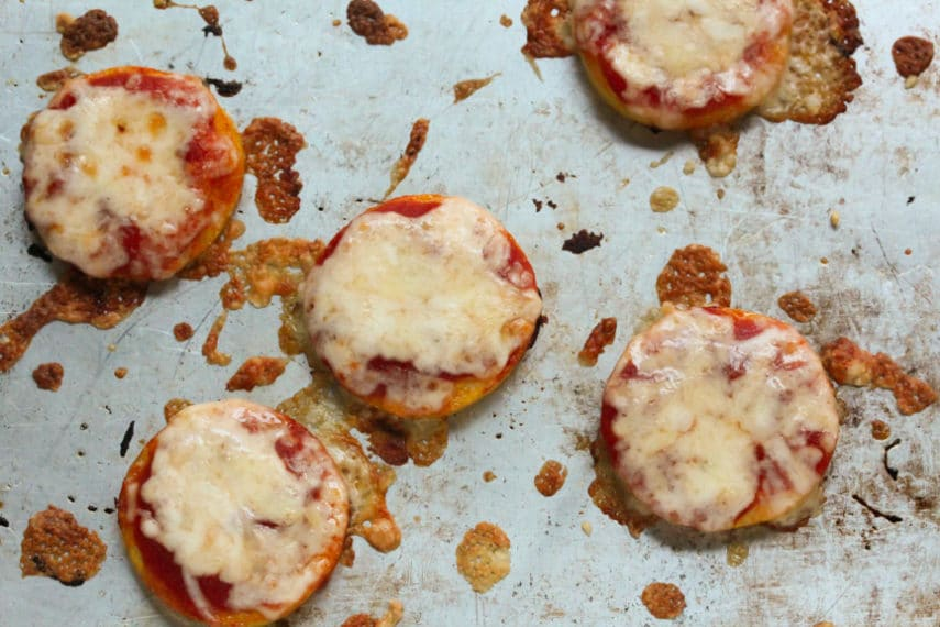 Mini Polenta Pizzas- so easy to make- great snack for teens.