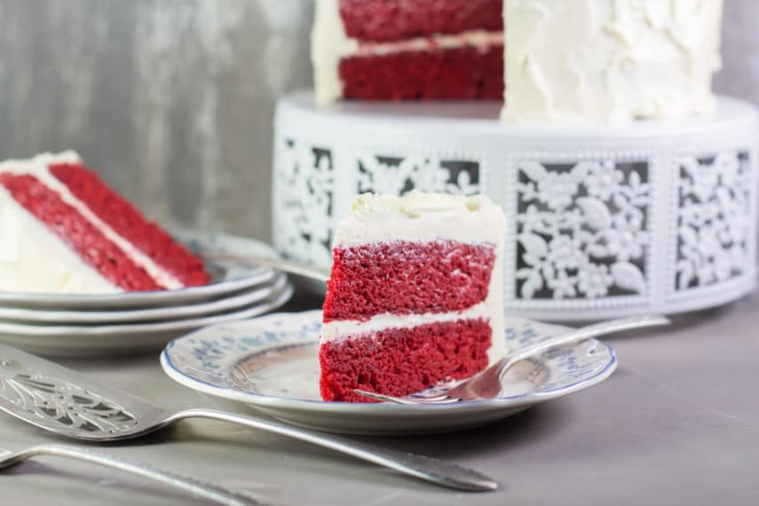 A slice of Red Velvet Cake- moist!