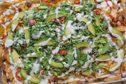 A riot of color, texture and taste - Salad Nachos
