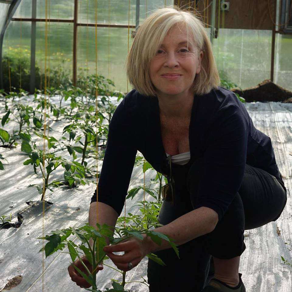 Robin Jaffin, Co Founder FODMAP Everyday in her greenhouse