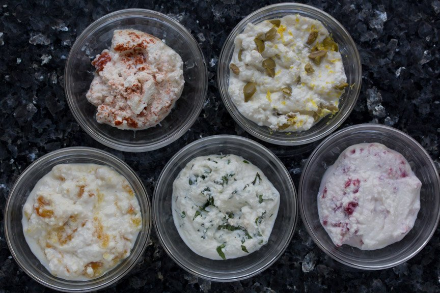 low FODMAP Flavored Ricotta Spreads