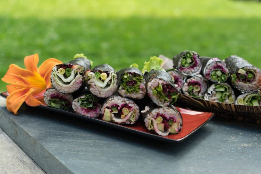 maki rolls outdoor finished