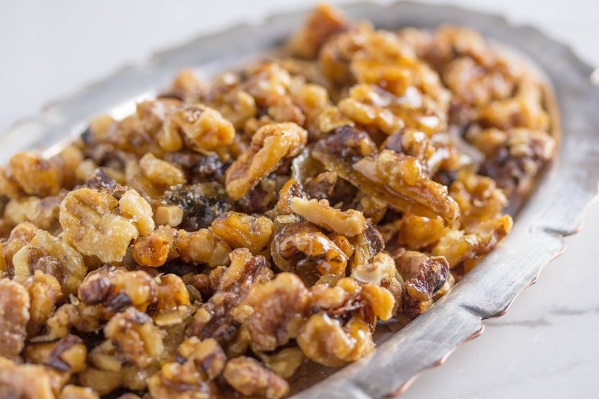 Candied Nuts a delicious Low FODMAP snack
