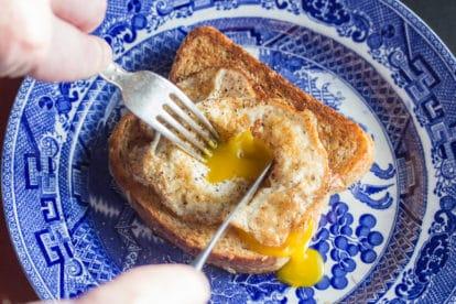 crispy fried egg