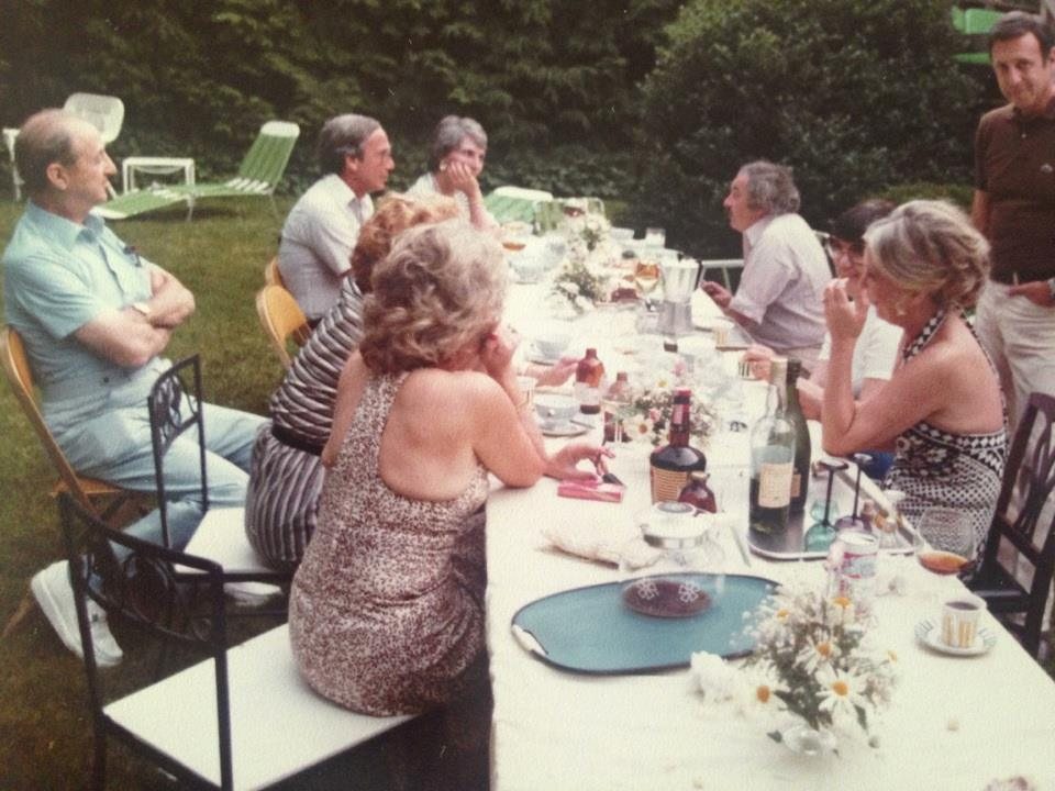 Dinner in the backyard- 1970's