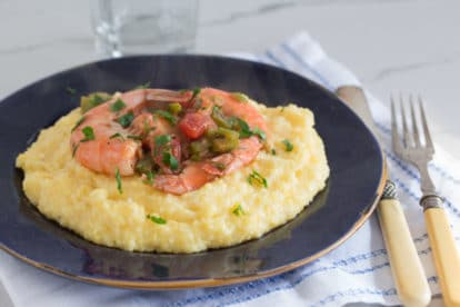 Monash University Certified Low FODMAP Shrimp and Cheesy Grits