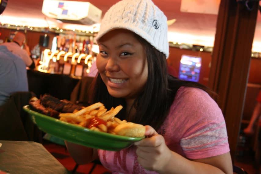 teen eating