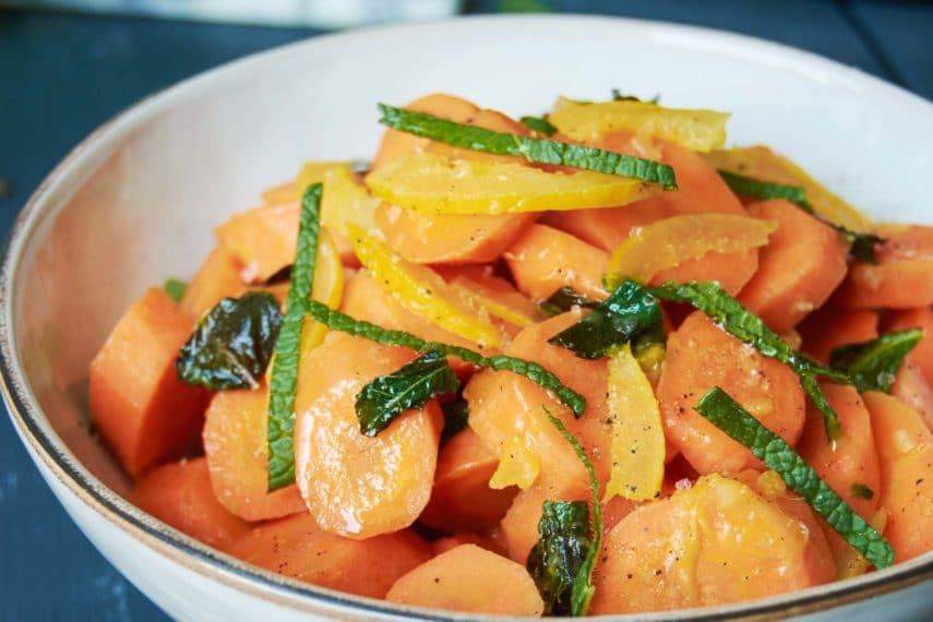 Carrot Lemon Mint Salad