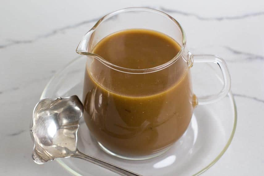 Low FODMAP Gravy with pan drippings added