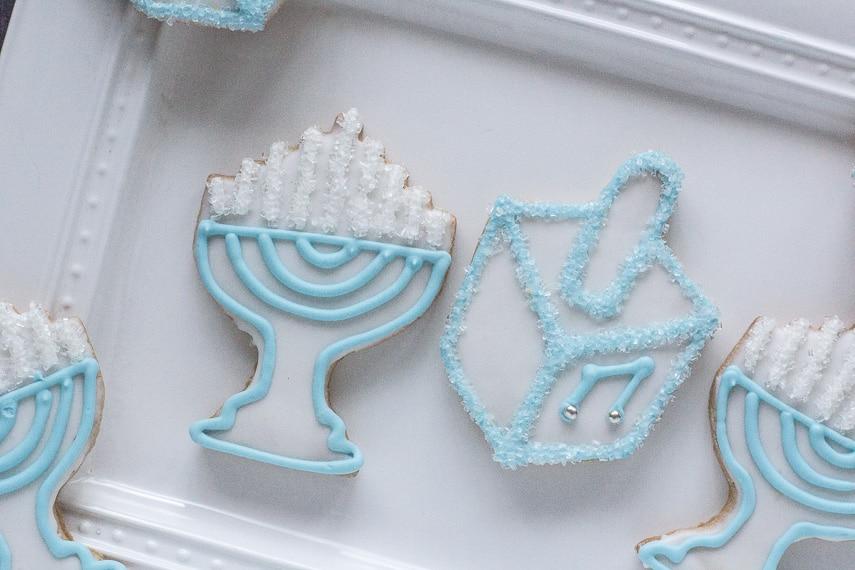 Hanukkah cookie closeup