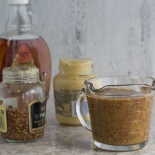 Maple Mustard Sauce ingredients