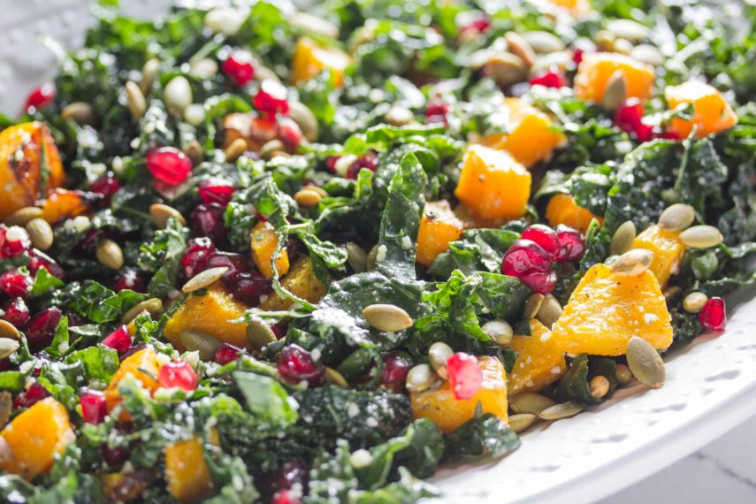 FODMAP IT!™ Kale Salad with Roasted Butternut Squash and ...
