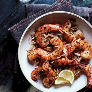 roasted shrimp with almonds