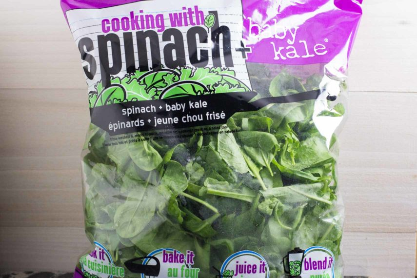 what to eat spinach & baby kale in a bag. Washed and ready to use
