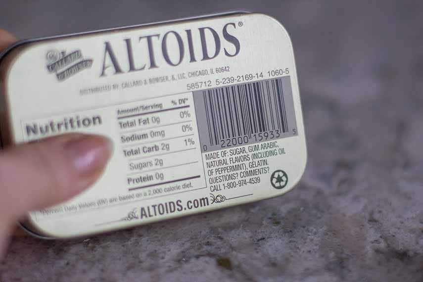 Got Bad Breathe? Altoids tin label. breath mints