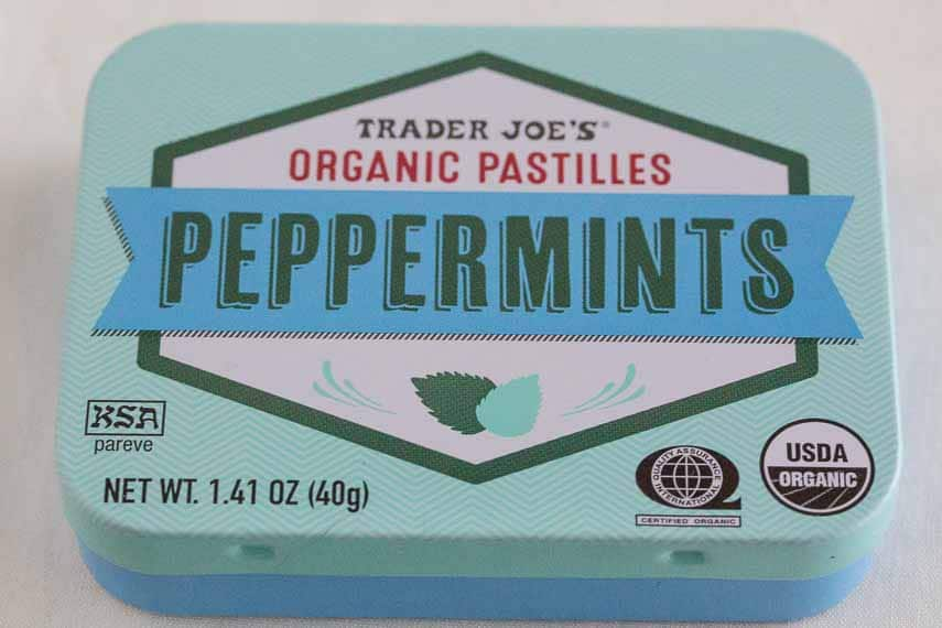 Got Bad Breathe? trader joe's peppermint tin. breath mints