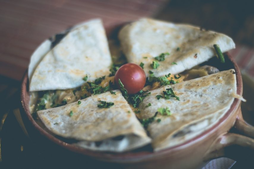 Low FODMAP Snacks for On The Run- quesadilla